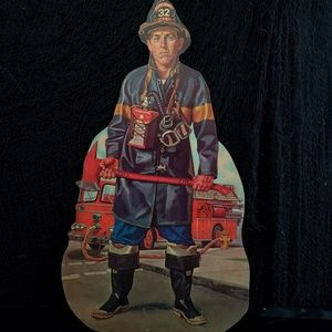 Vintage 1960s teaching prop of a firefighter!